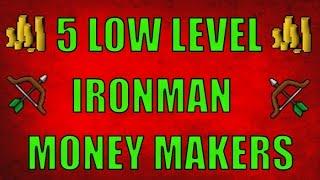 5 Different low level / early ironman / hardcore ironman money maki...