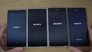 Sony Xperia Z3 vs. Sony Xperia Z2 vs. Sony Xperia Z1 vs. Sony Xperia Z - Which Is Faster? (4K)