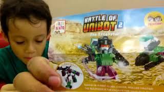 Mainan KIDZU BENTO : Unboxing The Battle Of UNIBOT 2, Hoka Hoka Bento