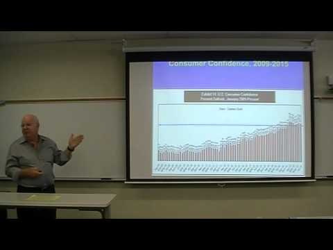 Dr. Husing Presentation in Global Business class at Chaffey College