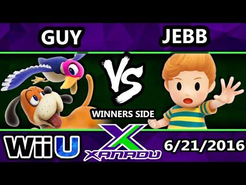 S@X 156 - Guy (Duck Hunt) Vs. Jebb (Lucas) SSB4 Tournament - Smash Wii U - Smash 4