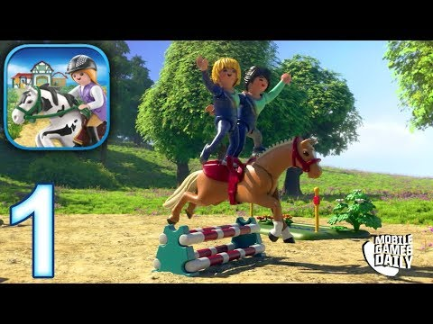 PLAYMOBIL HORSE FARM gameplay Part 1 - Jumper (iOS Android)