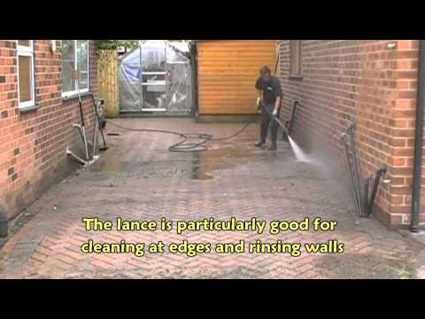 how to clean cement patio with pressure washer