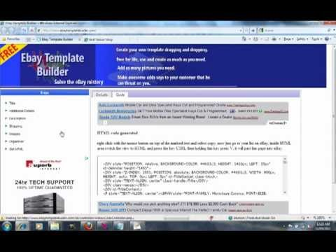 Ebay Template Builder FREE Tool For Ebay Seller Make You Client - Ebay template creator
