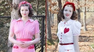 Valentine's Day Dresses! 1930s Style : Chatty Sewing Vlog