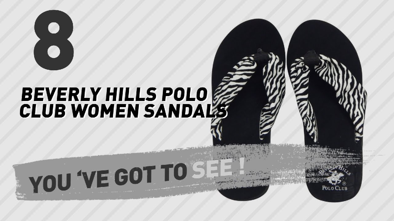 64848d195 Beverly Hills Polo Club Women Sandals // New & Popular 2017 - YouTube