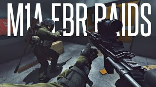 M1A EBR SNIPER / DOUBLE VISION RAID! - Escape From Tarkov PVP Gameplay