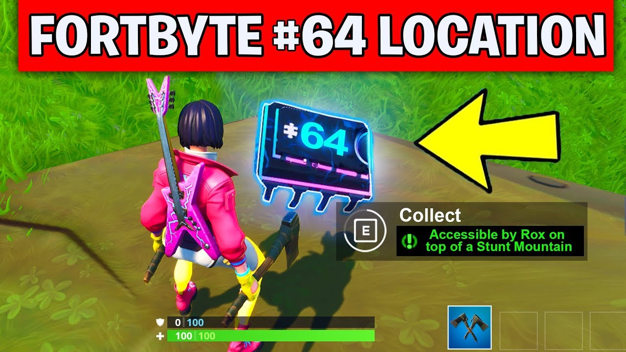 Fortbyte 64 Location Accessible By Rox On Top Of Stunt Mountain