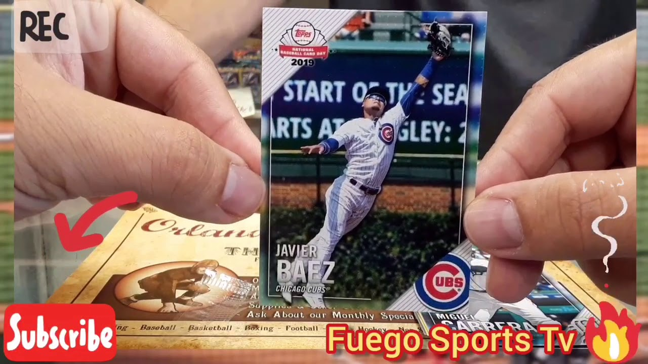 National Baseball Card Day At My Local Card Shop Ripping A Free Topps Baseball Pack Fuegosportstv