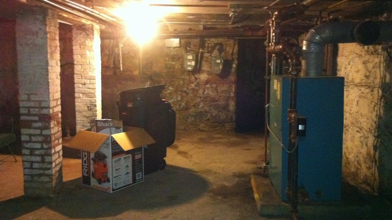 Creepy scary basement