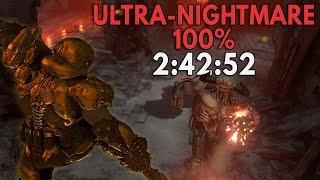 Doom Eternal: 100% Ultra-Nightmare Speedrun in 2:42:52