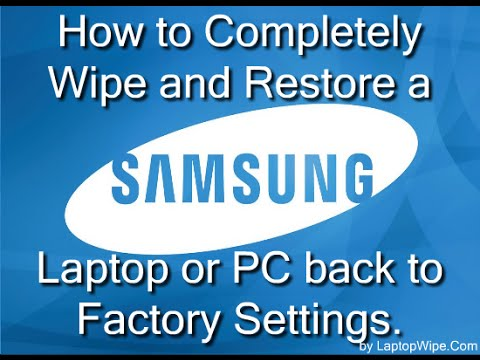 Samsung Laptop/Computer - How To Wipe and Restore Hard Drive to Factory Default