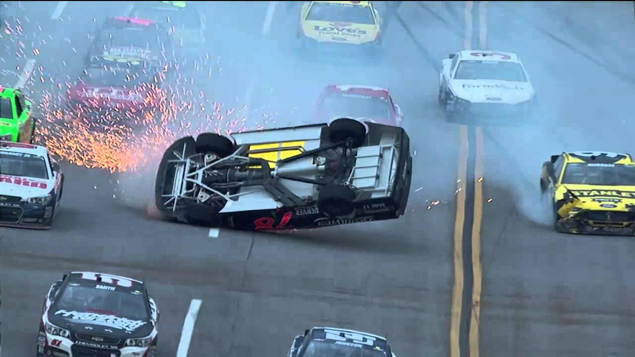 Kurt Busch\'s CRASH at Talladega 2013! - YouTube