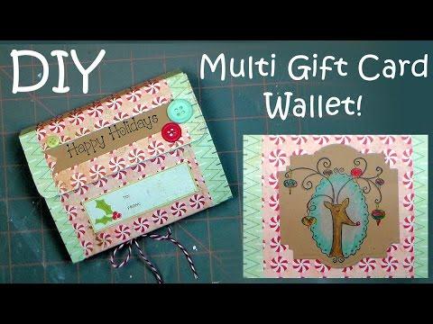 Multi Gift Card Wallet & Reindeer Coloring Tutorial {By Request!}