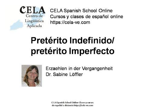 Unterschied zwischen pretérito indefinido und imperfecto Spanisch