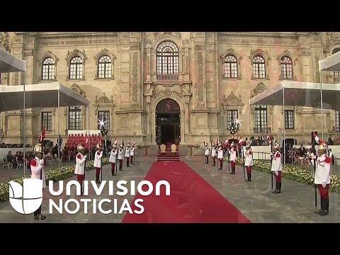 El papa Francisco se reúne con el presidente de Perú