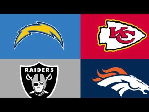 NFL Record Predictions AFC West 2017-2018