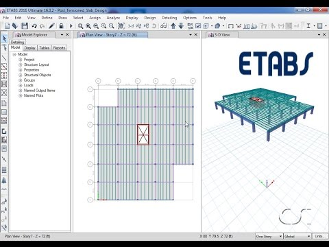 ETABS - 25 Automated Post Tensioning of Slabs: Watch & Learn