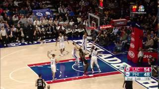 Holmes Huge Block On Griffin Clippers@Sixers January 24, 2017