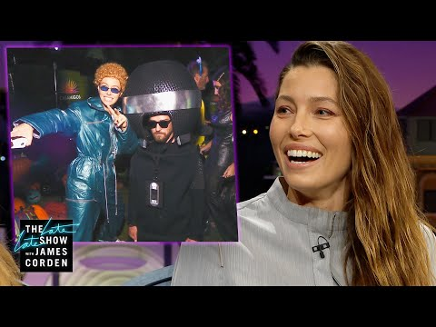 Jessica Biel Found Justin Timberlake's Actual Jumpsuit For Halloween