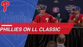 Phillies remember their Little League experiences