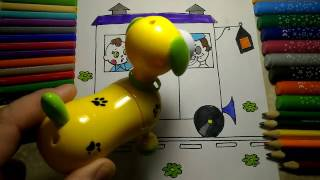 Train Toys Coloring for Kids  Magic Dog