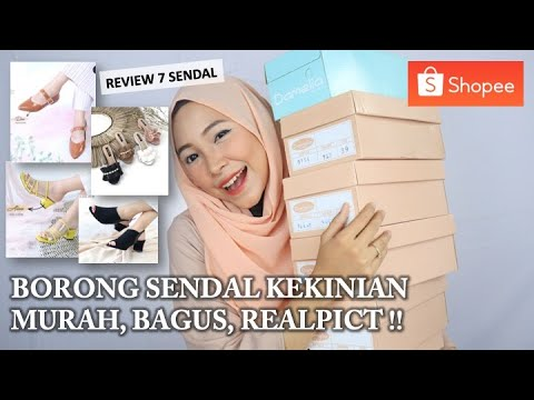 Review Sendal Sepatu Di Toko Langganan Shopee Murah Tapi