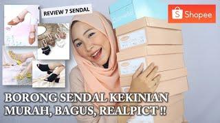 Review Sendal/sepatu Di Toko Langganan Shopee. Murah Tapi Bagus & Realpict