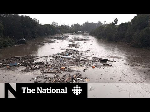 Widespread flooding traps Californians