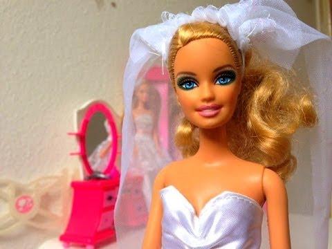 913c97e95 Barbie Bride Dress باربي فستان العروس - YouTube