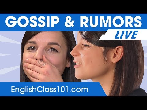 Gossip & Rumors Words and Phrases - Learn English