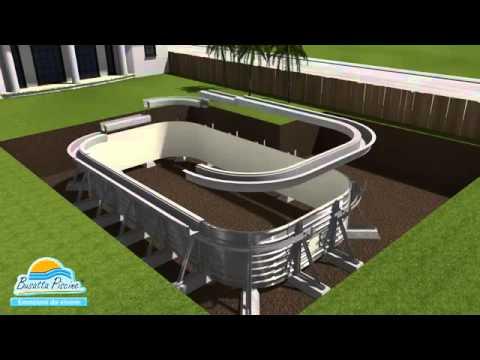 Montaggio piscine interrate a sfioro busatta for Busatta piscine