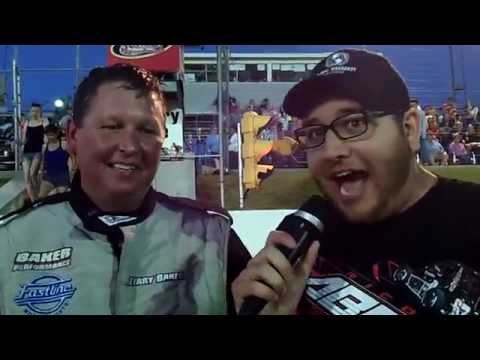 2014-06-28 Sunset Speedway Terry Baker OSCAAR Modified Tour Victory Lane Interview
