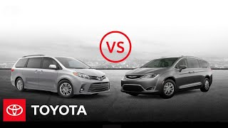 homepage tile video photo for 2020 Toyota Sienna XLE vs. 2020 Chrysler Pacifica Touring L | Minivan Comparison | Toyota