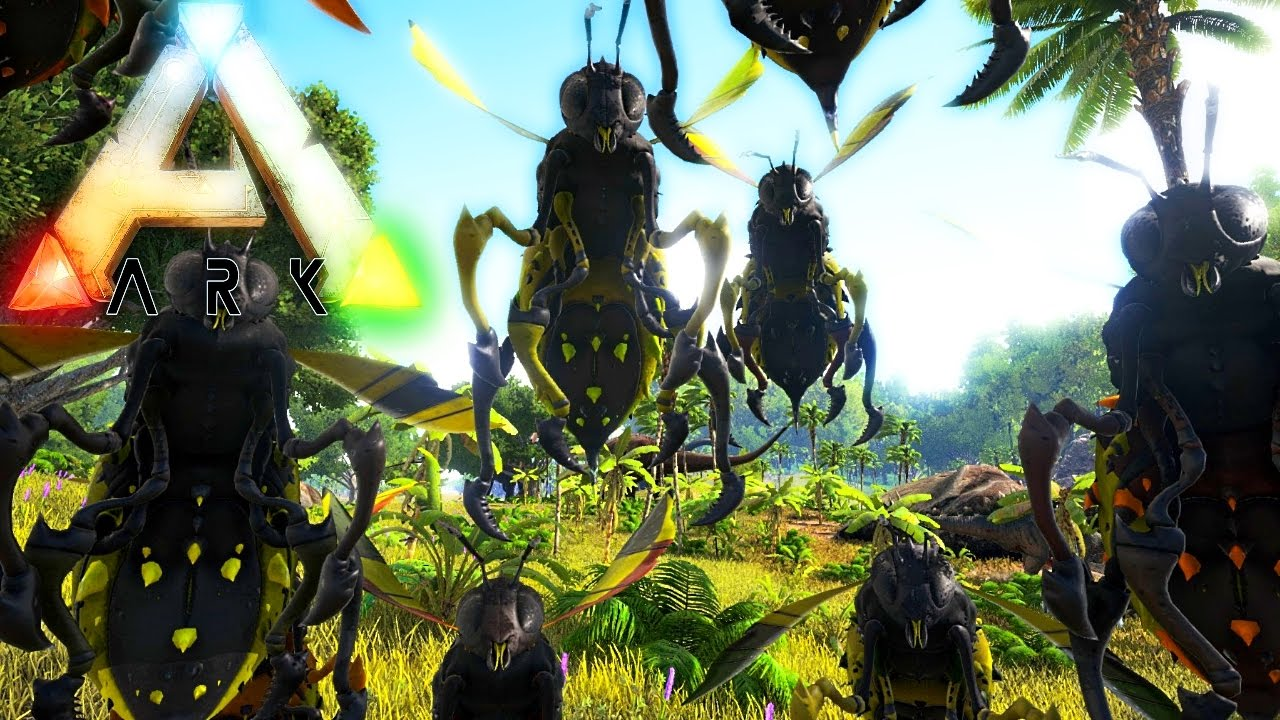 Ark Survival Evolved Giant Bee First Look Jurassic