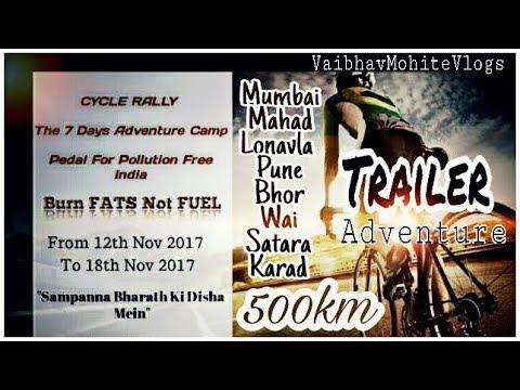 Cycle RIDE 500km | Adventure Trailer | Mumbai-Lonavla-Pune-Satara-karad#1st MARATHI CYCLE VLOGGER