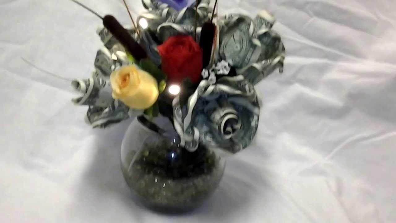 Magnolias and Silk Money Flower Center Piece Bouquet by MoniyRoZe ...