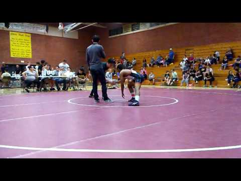 Nicholas Steele pins in 32 secs. At Cibola High Wrestling Tournament