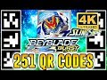 ALL 251 QR CODES BEYBLADE BURST TURBO APP IN 4K!