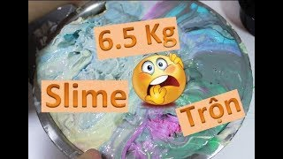 #1 Trộn 15 hủ SLime Bắp Làm Ra  6.5 KG SLIME 😂 Phần 2- Quá Trình Trộn Slime Khủng Khiếp😂