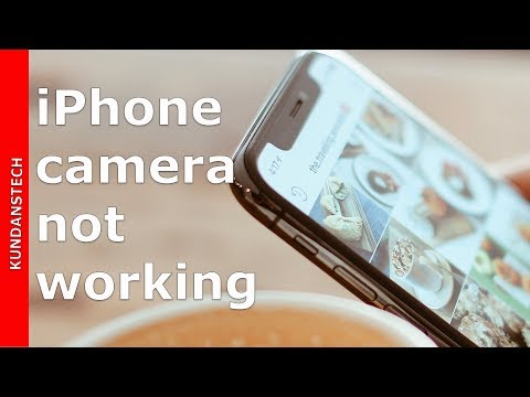 Camera app not working in iPhone
