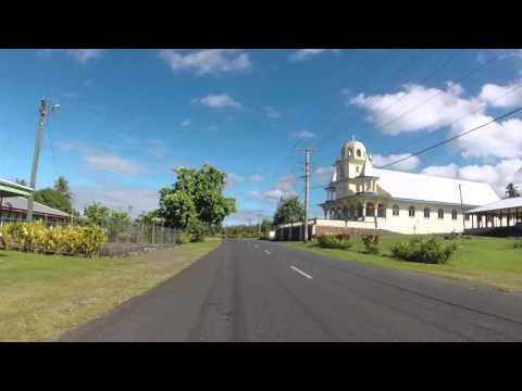 Samoa Savai'i Route vers Afu auu waterfall, Gopro / Samoa Savai'i Road to Afu auu waterfall, Gopro