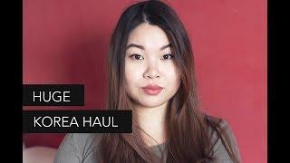 HUGE Korea Beauty Haul - makeup, hair, skincare