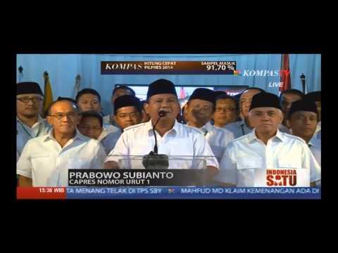 Merasa Unggul Di Hitung Cepat, Prabowo Dan Jokowi Saling Klaim Kemenangan