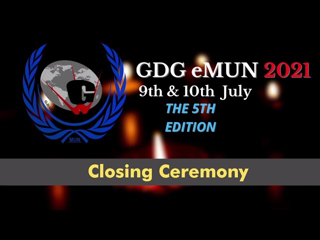 eMUN 2021 Closing Ceremony