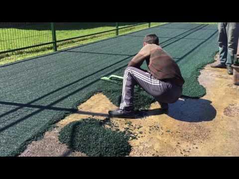 Резиновое покрытие. Футбольная площадка в г. п. Апрелевка