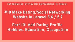 How to make a Dating website with CI