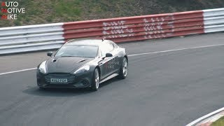 2019 ASTON MARTIN RAPIDE AMR SPIED TESTING AT THE NÜRBURGRING