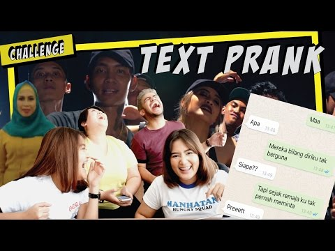 TEXT PRANK NYOKAP PAKE LAGU BAD - YOUNG LEX feat. AWKARIN (GONE KOCYAG!)