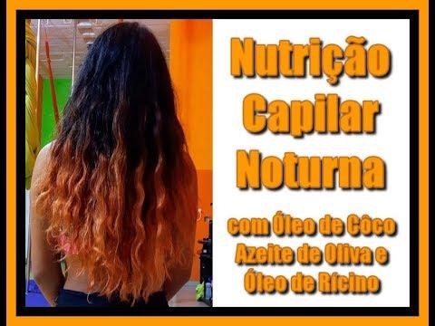 Nutrição Capilar Noturna Com Óleo De Côco, Azeite De Oliva Extra Virgem E Óleo De Rícino